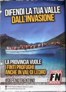 Plakát vlaSStenecké strany Forza Nuova (Nová síla) v Bezzecce