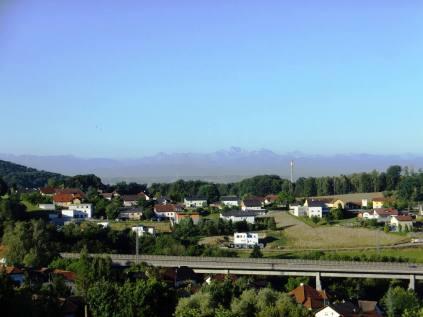 Pohled k Alpám od Zingießingu