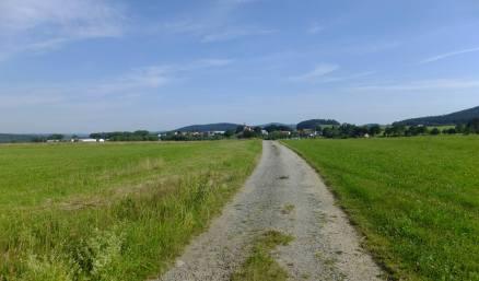 Cesta k centru Oberhaidu / Horního Dvořiště
