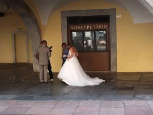 Nevěsta v Rivě del Garda